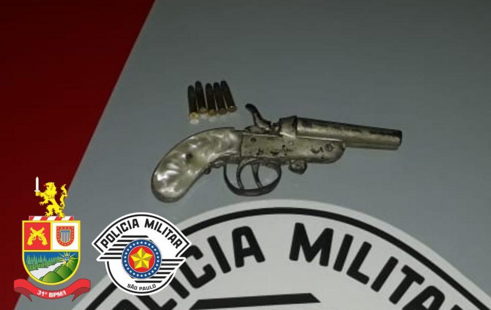 Arma usada pelo pai foi apreendida (Foto: Divulgação)