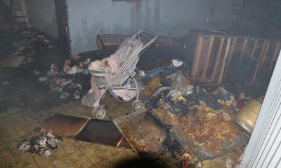 Casa foi incendiada na noite de quarta-feira (19) — Foto: Fatoatual.com