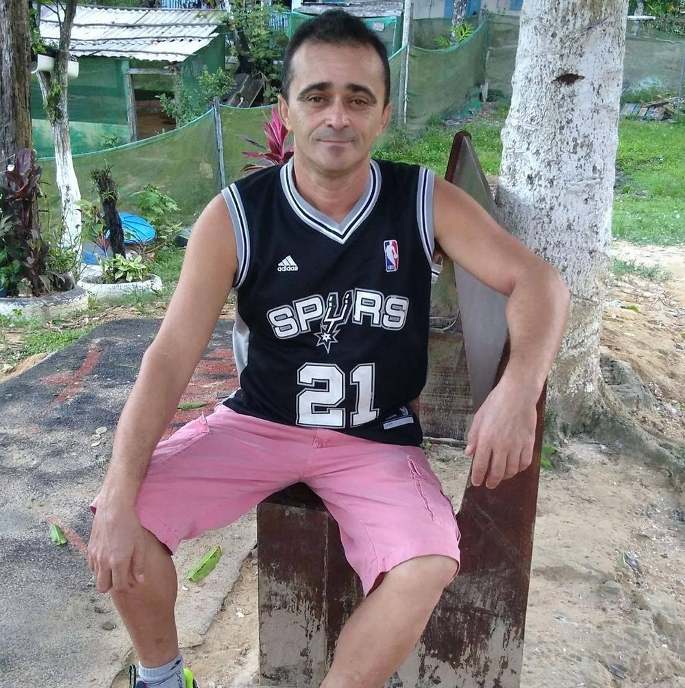 José Diógenes de Andrade, de 47 anos, é o principal suspeito de agredir a mulher e a filha, em São Vicente, SP — Foto: Reprodução/Facebook