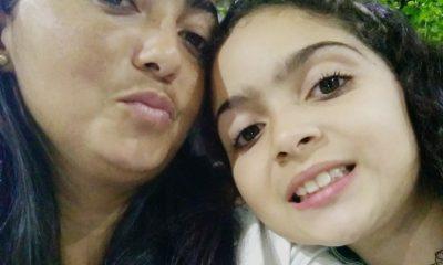Luziane de Jesus Silva, de 38 anos, e Mirella Silva Andrade, de 9, foram agredidas a marretadas, em São Vicente, SP — Foto: Reprodução/Facebook