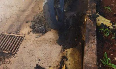 Homem disse que ateou fogo na moto do vizinho porque não aguentava mais as brigas dele com a mulher, segundo o boletim de ocorrência. — Foto: Renata Tibúrcio/Divulgação