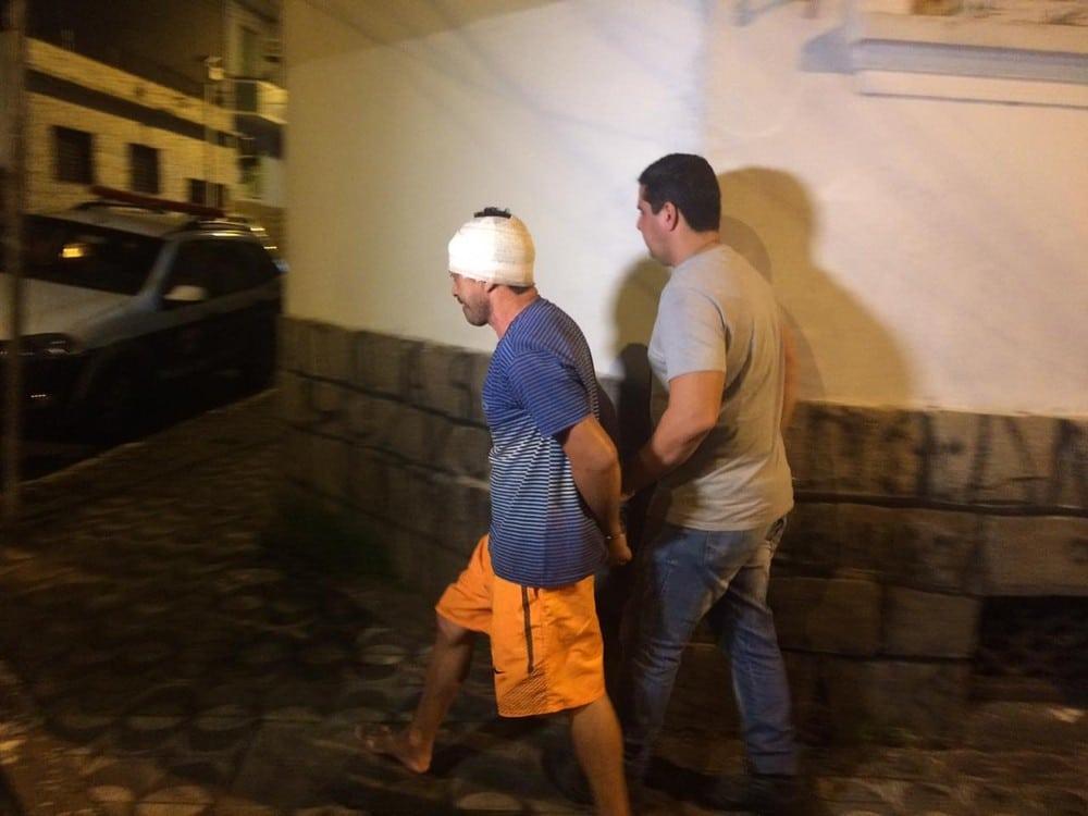 José Diógenes de Andrade, de 47 anos, foi preso nesta segunda-feira (3), em Praia Grande, SP — Foto: Addriana Cutino/G1