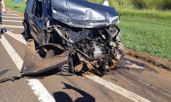 Acidente foi na manhã deste domingo (23) na BR-369, em Arapongas — Foto: PRF/Divulgação