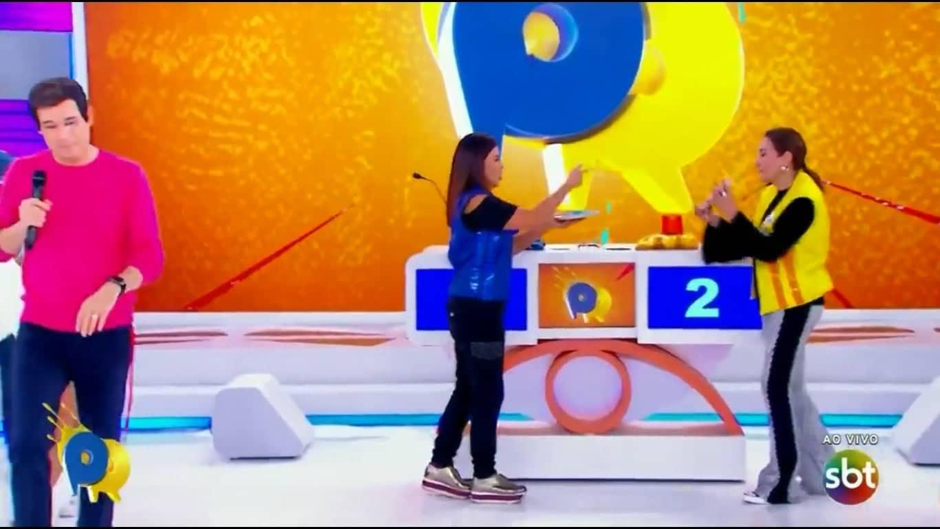Celso Portiolli deixa programa ao vivo após gafe de Mara Maravilha (Imagem: Reprodução / SBT)
