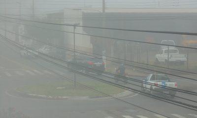Rotatoria da Avenida Getúlio Vargas com a Avenida Glória na manhã desta terça (Foto: AssisNews)