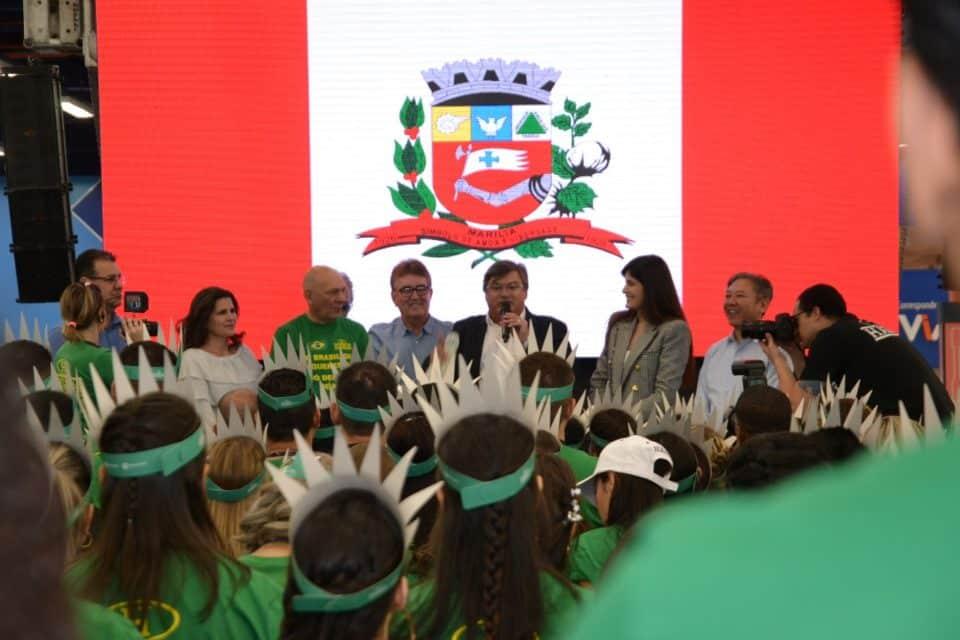 Autoridades participaram do evento (Foto: Leonardo Moreno/Marília Notícia)