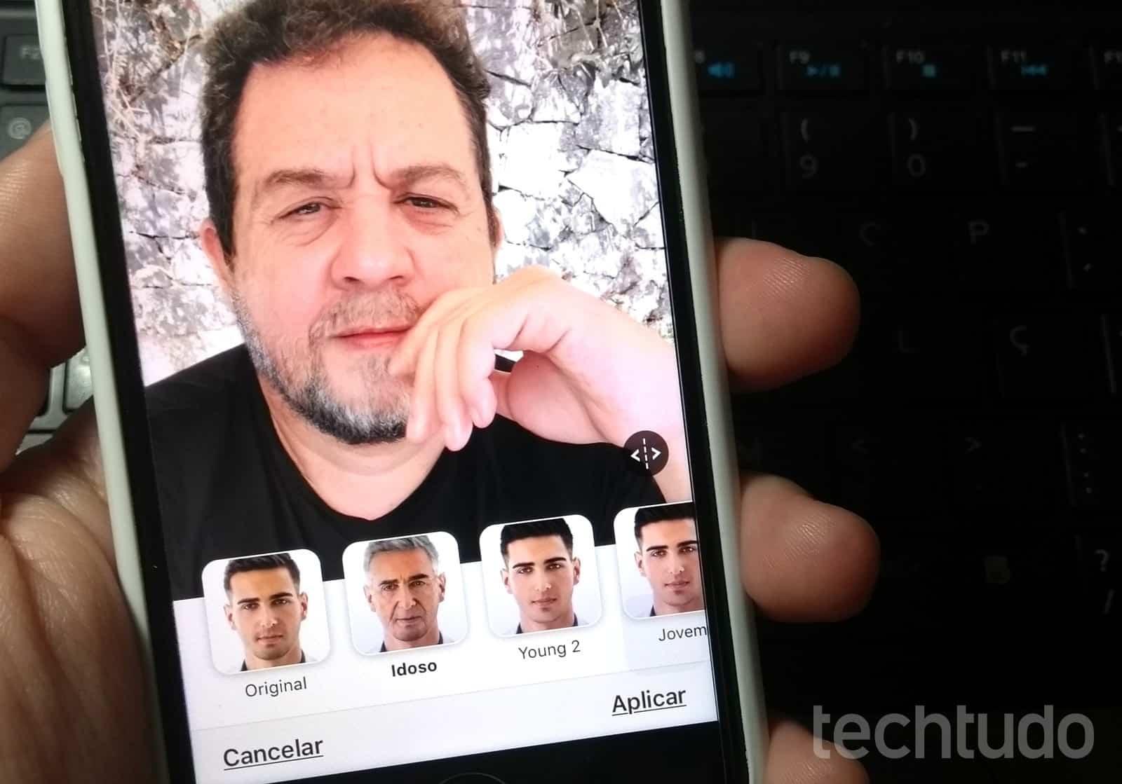 FaceApp, app com efeito de velho, chegou ao topo das lojas da Apple e do Android (Foto: Rodrigo Fernandes/TechTudo)