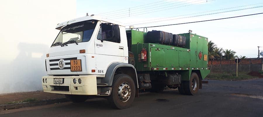 Veículo que o acusado utilizava para transportar o combustível que furtava (Foto: Cedida/PM)