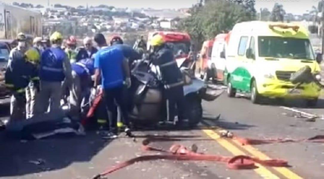 Filho trabalhava na rodovia no momento em que pai morreu em acidente
