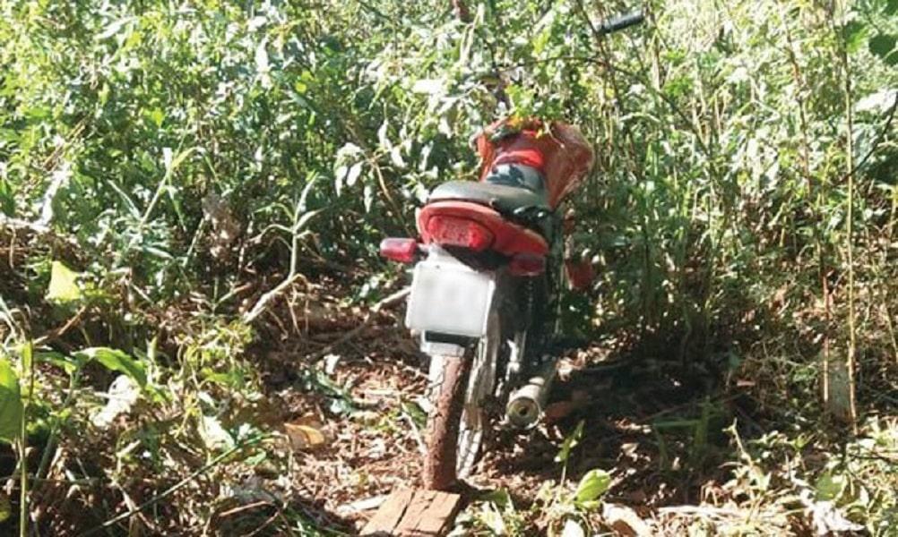 Polícia localiza moto furtada em Cândido Mota (Foto: Divulgação/Polícia Militar)