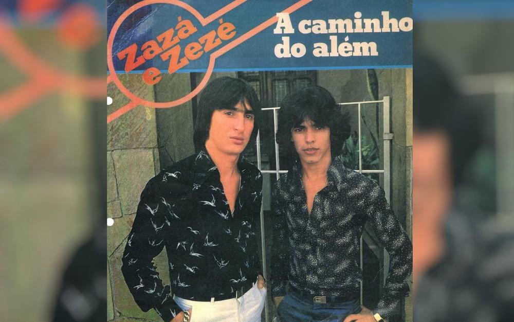 Zazá formou dupla com Zezé no início da década de 1980 — Foto: Reprodução/TV Anhanguera