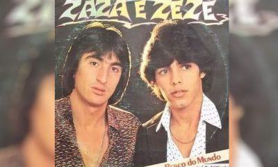 Capa de um dos três discos gravados por Zazá e Zezé na década de 1980 — Foto: Arquivo pessoal