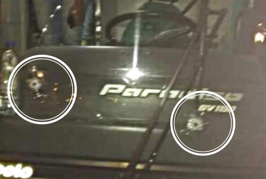Ônibus com passageiros de Assis e Tarumã é atingido por tiros em tentativa de assalto (Foto: Cedida ao AssisNews)