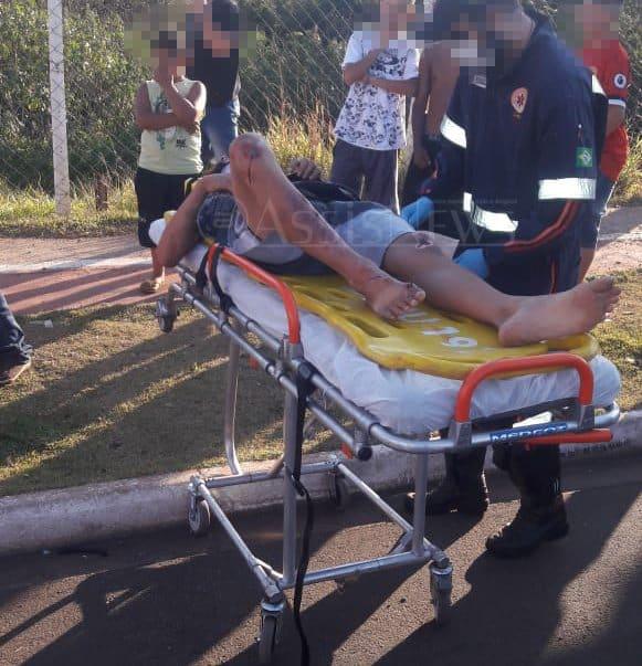 """Dois jovens ficam feridos após acidente no bairro """"Pacaembu"""" (Foto: The Brothers/Cedida ao AssisNews)"""