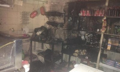 Incêndio atingiu mercearia em Tupã (Foto: João Trentini /Divulgação)