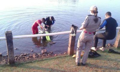 Bombeiros encontram corpo de adolescente que desapareceu em lago de Apucarana