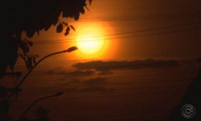 Defesa Civil emitiu alerta para onda de calor que deve atingir principalmente o interior de SP — Foto: TV TEM / Reprodução