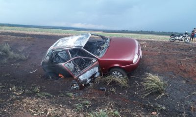 Incêndio em canavial na região causa prejudica visibilidade vários acidentes na rodovia (Foto: Jornal da Comarca)