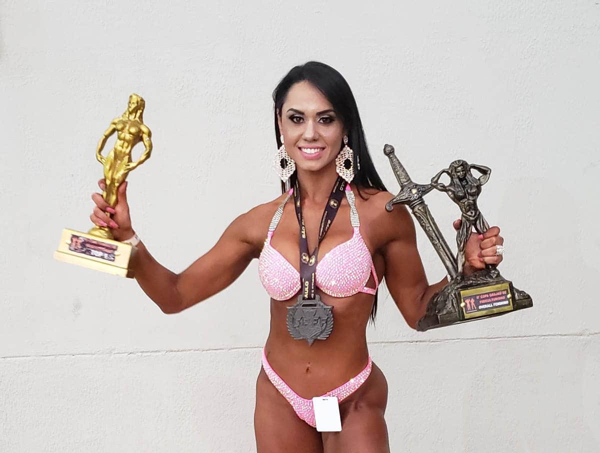 Atleta de Palmital, Tamara Mendes vence concurso de fisiculturismo em São Paulo (Foto: Divulgação)