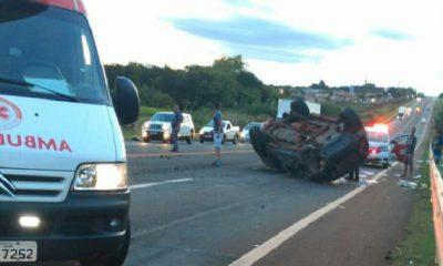 Uma pessoa morre e outras duas ficam feridas em grave acidente na rodovia em Tarumã (Foto: Cedida ao AssisNews)