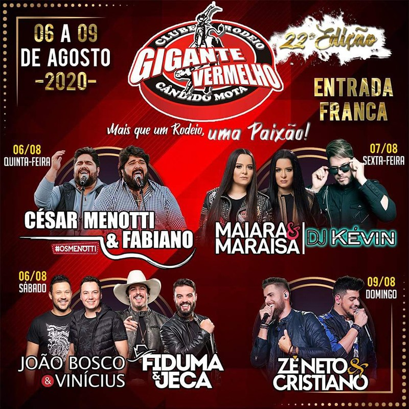 Gigante Vermelho anuncia seis shows para 2020 (Foto: Divulgação)
