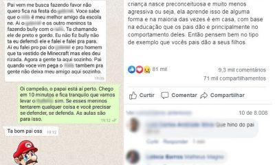 Filho relata ao pai bullying contra amigo negro em festa e conversa viraliza na web: 'Defendi ele'