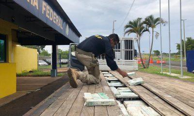 Polícia Rodoviária Federal apreende grande quantidade de maconha em rodovia de Ourinhos — Foto: Diogo Nolasco/TV TEM