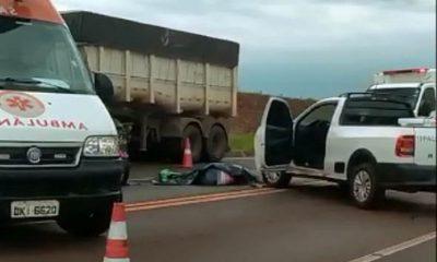 Motociclista morre em acidente em rodovia de Palmital (Foto: Jornal da Comarca)
