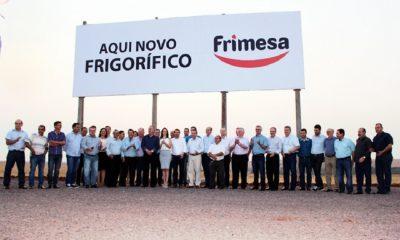 A Frimesa está construindo o maior frigorífico da América Latina, e vai gerar 5 mil empregos diretos e até 15 mil indiretos (Foto: Reprodução/Novo Oeste)