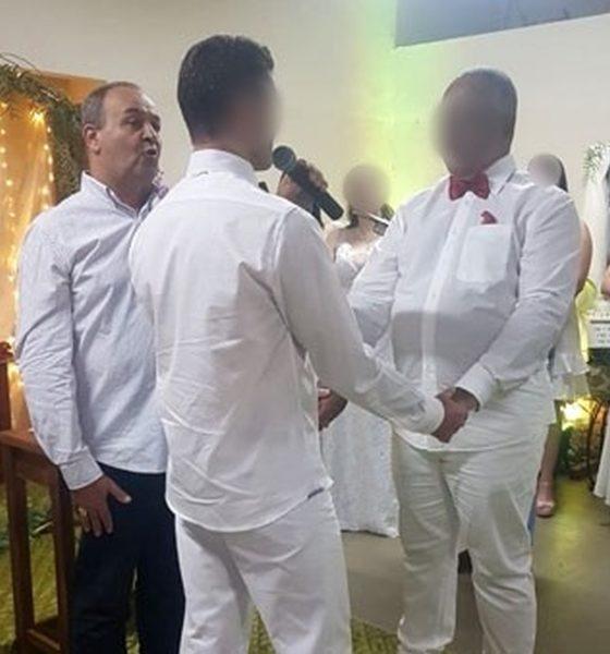 Padre é afastado depois de abençoar união homoafetiva em Assis — Foto: Reprodução/G1