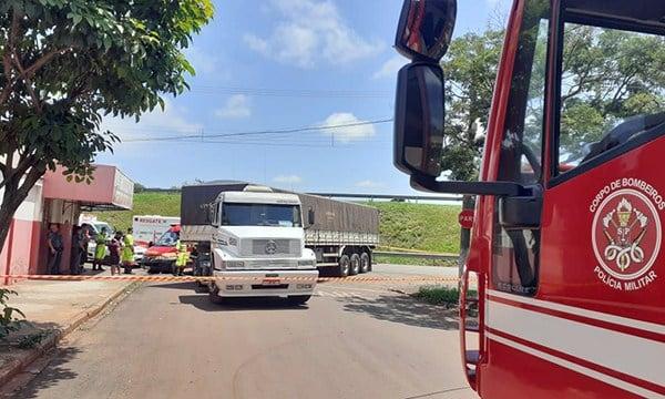 Idoso morre atropelado por carreta em Nova Alexandria (Foto: O Diário do Vale)
