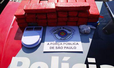 Polícia encontra 26 tijolos de maconha dentro de geladeira de casa em Assis (Foto: Polícia Militar/Divulgação)