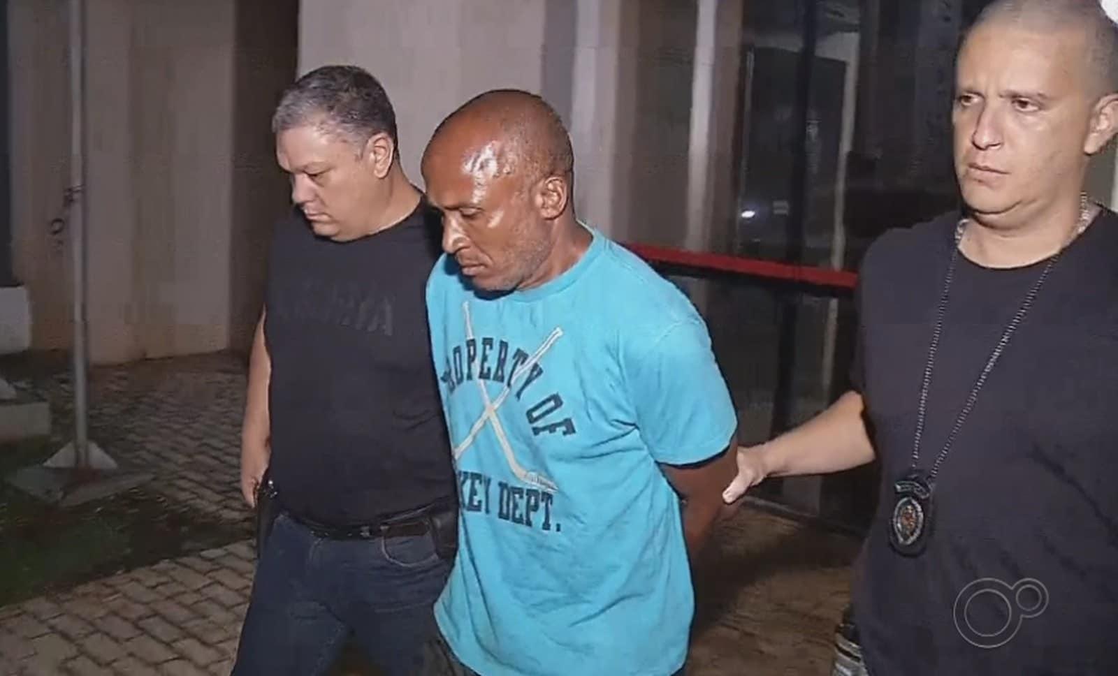 Agnaldo é vizinho de Emanuelle e confessou que matou a menina a facadas em Chavantes — Foto: Reprodução/TV TEM
