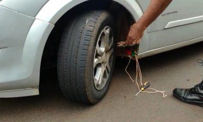Casal é preso com 64 tabletes de maconha na caixa de ar do carro em Florínea — Foto: Divulgação/Polícia Rodoviária