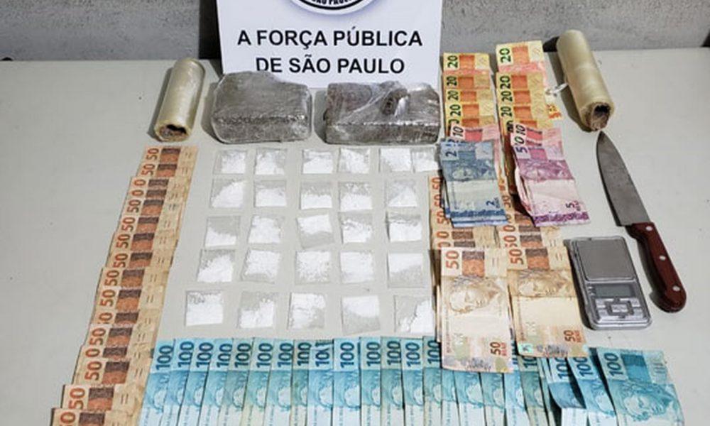 Homem é preso por fazer 'delivery' de drogas em Assis — Foto: Polícia Militar/Divulgação