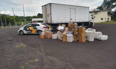 Polícia Rodoviária apreende produtos eletrônicos sem nota fiscal em Assis — Foto: Polícia Rodoviária/Divulgação