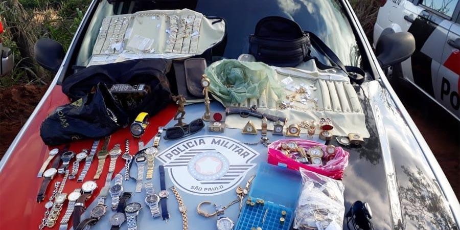 Pelo menos por enquanto nenhum envolvido no roubo foi preso (Foto: Cedida pela Polícia Militar)