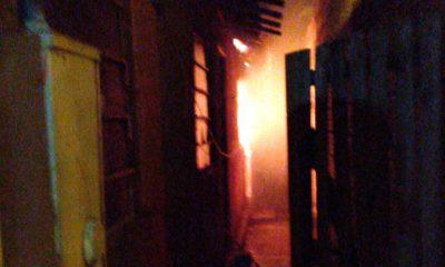 Casa onde morava suspeito de matar menina com 13 facadas pega fogo em Chavantes — Foto: Arquivo pessoal
