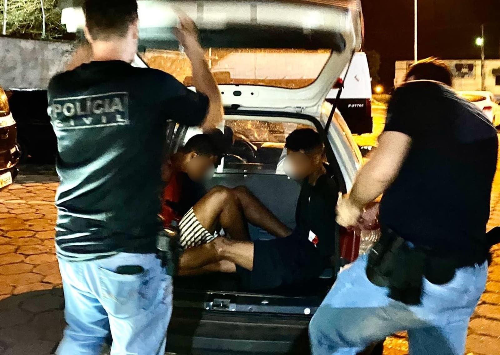 Polícia prendeu três pessoas suspeitas de participação na morte de servidor público de Lins — Foto: J. Serafim/Divulgação