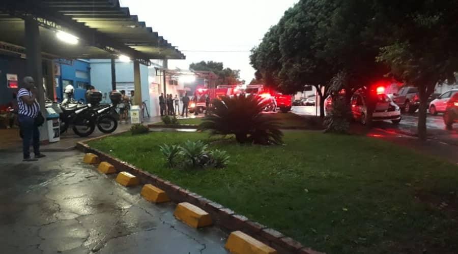 Vítima foi socorrida e levada para o Hospital Municipal de Rancharia