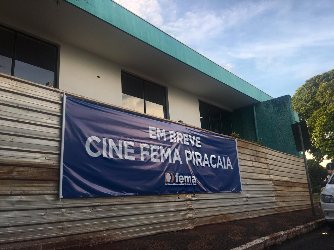 FEMA inicia reforma do cinema municipal (Foto: Glauciana Nunes)