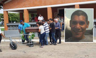 Motorista 'engolido' por cratera em Botucatu foi enterrado em Porto Feliz (SP) — Foto: Jomar Bellini/TV TEM
