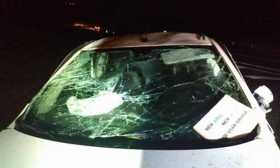 Carro capotou na vicinal que liga Barra Bonita a Mineiros do Tietê — Foto: Arquivo pessoal