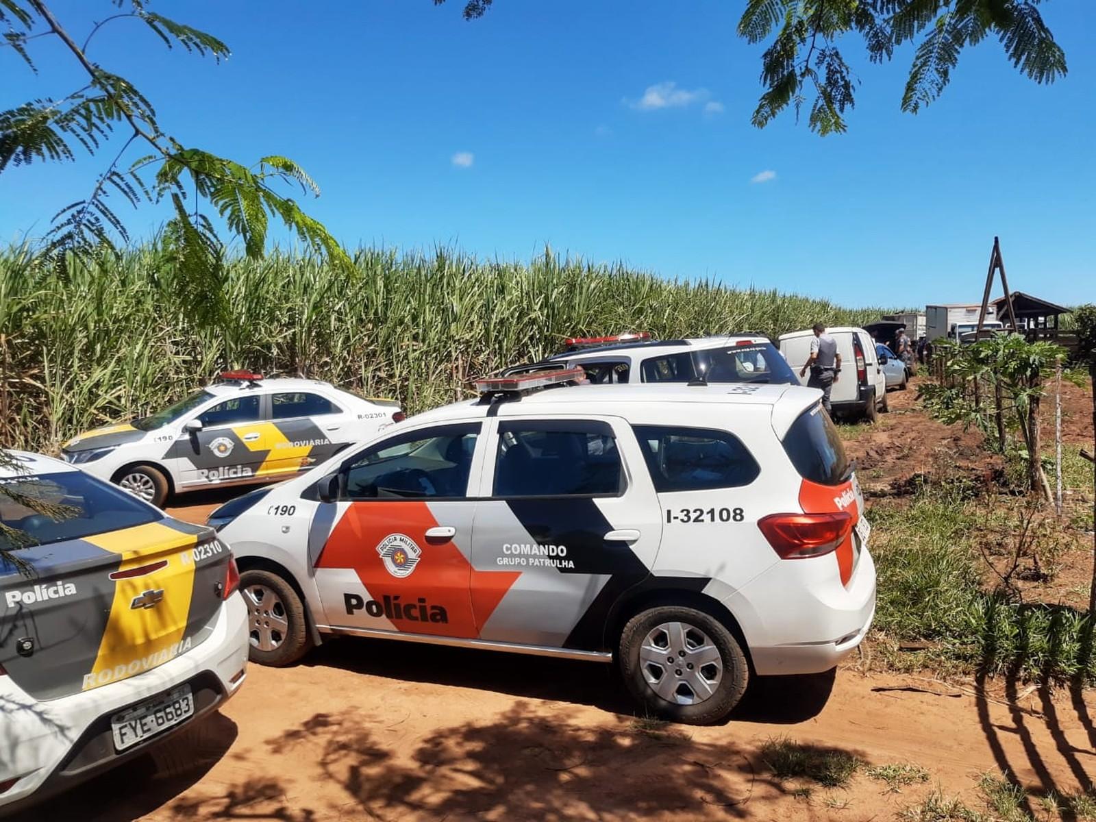 Abordagem foi feita na estrada que liga Assis a Paraguaçu Paulista — Foto: Polícia Militar / Divulgação