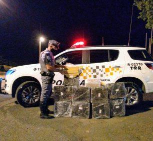Foram apreendidos mais de 200 quilos de maconha em Assis (Foto: Polícia Rodoviária/Divulgação)