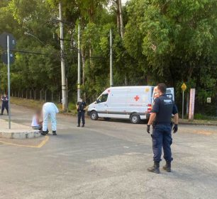 Mulher foge de hospital em Contagem e é socorrida pela Guarda Municipal e Samu (Foto: Divulgação/ Guarda Municipal Contagem)