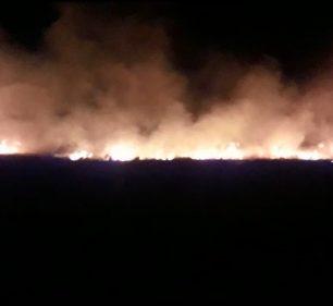 Incêndio de grandes proporções mobiliza bombeiros em Assis (Foto: Corpo de Bombeiros/Divulgação)