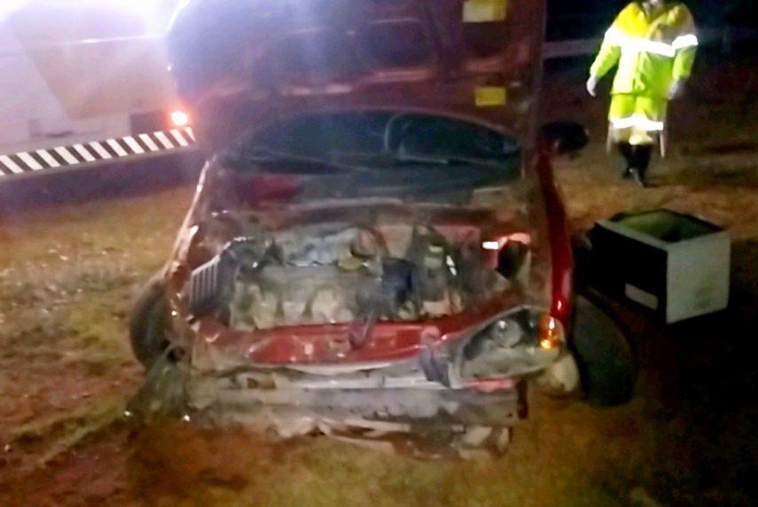 Motorista sai ileso após dormir ao volante e bater em rodovia, diz polícia — Foto: Grupo The Brothers/Divulgação