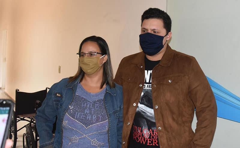 A esposa e um dos filhos do paciente também foram diagnosticados com Covid-19, mas eles não precisarem de internação (Foto: Manoel Moreno/i7 Notícias)