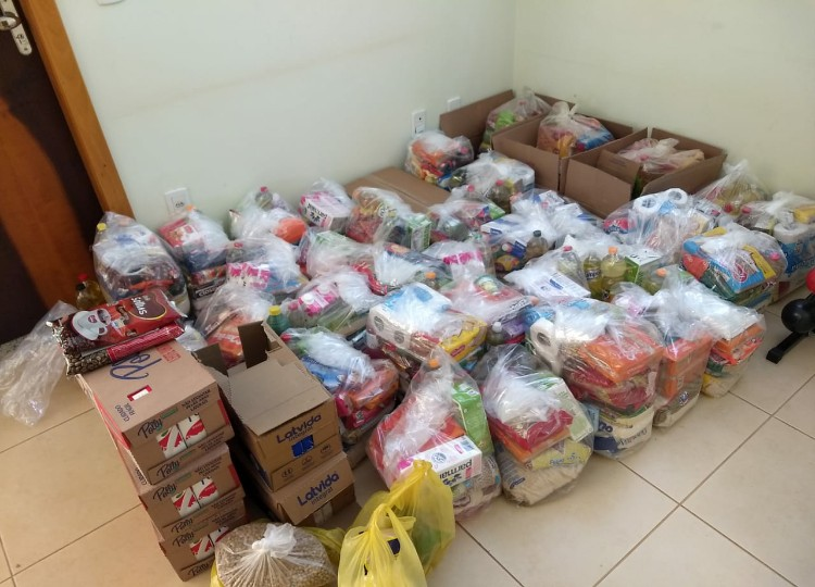 Drive Thru Solidário do Corpo de Bombeiros arrecada mais de 600 quilos de alimentos (Foto: Departamento de Comunicação)